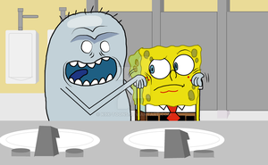 SpongeBob Meets Mr. Jelly Bean by K9X-Toons-n-Stuff