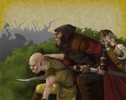 Sneaking Orcs by quellion