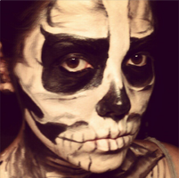 Skeleton Face Paint by stinafacexd