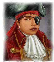 Pirate Jill's Portrait by JordanGreywolf