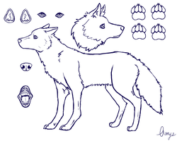 free for use wolf reference sheet by Ampzilla