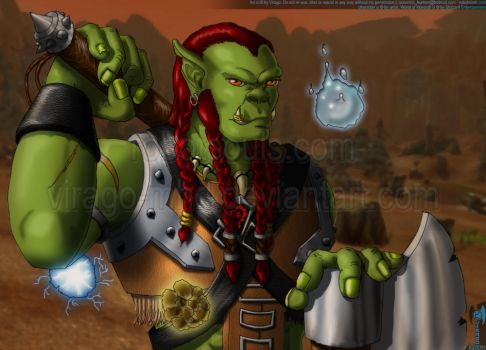 WoW - Orc Shaman by virago-rs