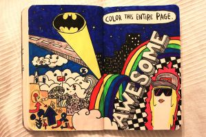 Wreck This Journal: Color this entire page by Monxi