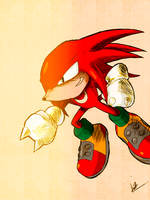 Knuckles The Echidna by kaiserkleylson