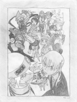Soul Eater Character Collage 3 by 88Death-The-Kid88