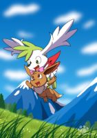 Flying date with Shaymin