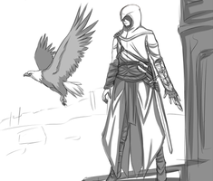 Altair - fast drawing by FireEagleSpirit