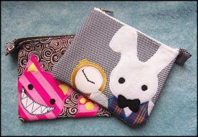 Rabbit + Cat Mini Pouches by 2sadsexually