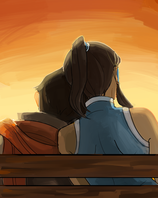 Korra: sunset by Minuiko