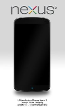 LG Nexus 5 Front View Concept Design by teerox