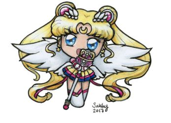 Eternal Sailor Moon Chibi ATTACK! by SarahsPlushNStuff