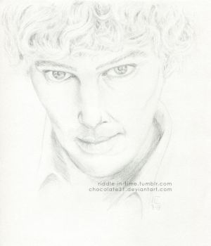 Benedict Cumberbatch Portrait by chocolate31