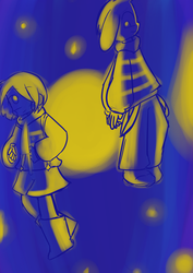 Outertale Chara and Asriel by Ineedaphone2005