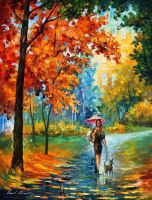 Intriguing autumn by Leonid Afremov by Leonidafremov