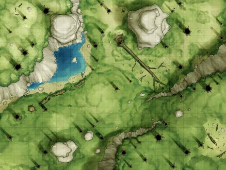 Battlemap - Mountain Forest by RoninDude