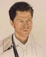 Castiel WIP by brailynne
