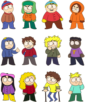 South Park Chibs by Mikky-Be