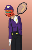 SSBA: Sunred as Waluigi by Apkinesis