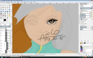 Ninja Aiclo Day 4 - eye WIP by Aiclo
