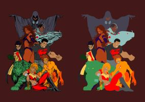 Teen titans flats by Eddy-Swan-Colors