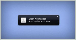 Clean Notification by PSDchat