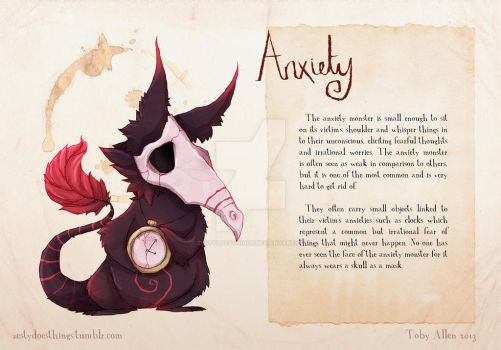 Real Monsters Reboot- Anxiety by ZestyDoesThings