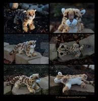 SOLD Plushie: Li Hua the Clouded Leopard by Avanii