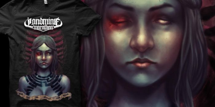 beaten and left blind t shirt by youmaykillthebride
