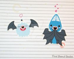 Chibi Woobat/Swoobat Stickers and Magnets