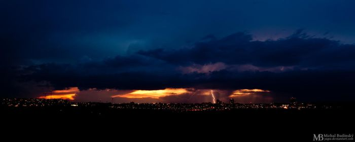Stormy evening in the city by Yupa