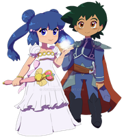 Princess Dawn and Prince Ash by figwine
