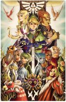 Tribute to the Legend of Zelda by ChrissieZullo