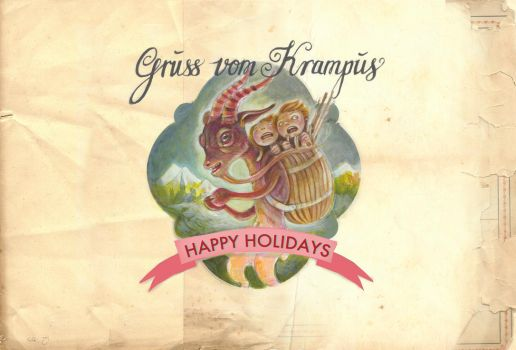 Krampus Christmas Card by miorats