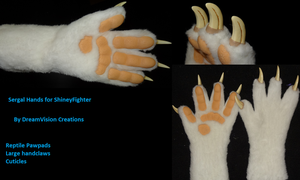 Sergal Hands by DreamVisionCreations