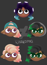 [SPLATOON FC]: Single Player Icons by WingedPPG