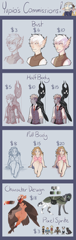 COMMISSIONS CLOSED (PayPal+USD only) by Yupio