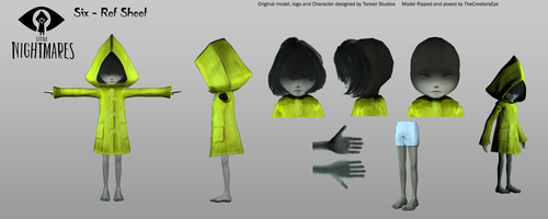 Little Nightmares - Six Ref Sheet by TheCreatorsEye