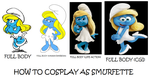 How to Cosplay as Smurfette by Prentis-65