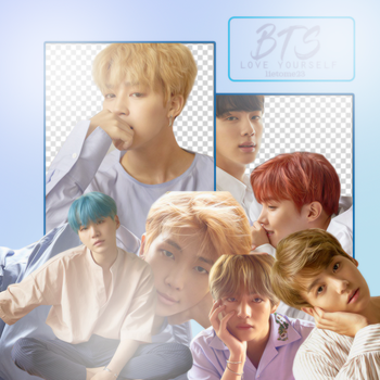 BTS LOVE YOURSELF VERSION L (PNG'S) by ALITTLEPUZZLE