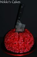 Bloody Brain Cake by Corpse-Queen