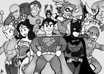 Commission: 1920's Justice League by Smudgeandfrank