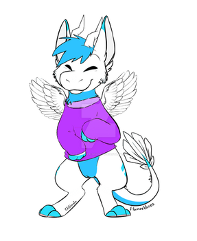 Angel Dragon Adopt Aution (close) by Chibi-Butler-Snake