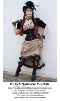 Steampunk Lady Stock 008 by MADmoiselleMeliStock