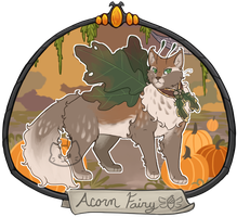 Halloween Advent Day 6 - Acorn Fairy by Arquerite