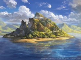 Magic: The Gathering- Island for M19 Standard by Alayna