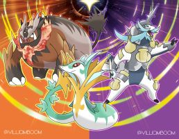 Unova startes in alola with the final form! by villi-c