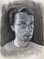 Selfportrait in gouache by AndreIllustrates