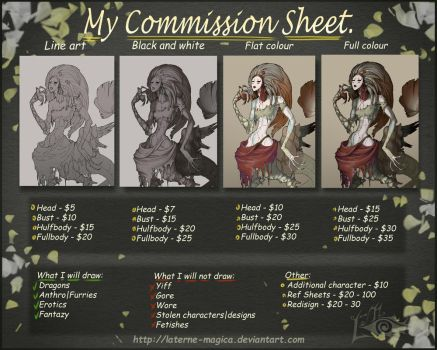commission sheet by Laterne-Magica