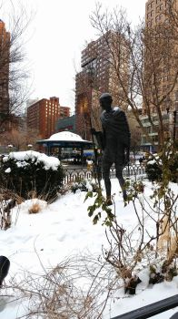 Gandhi in the Snow by TheLifeOfRick