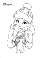 Hot Drink - Lineart by JadeDragonne